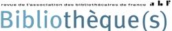 "Logo de la revue ""Bibliothèque(s)"""